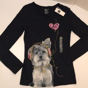 NWT GAP Adorable Detailed Yorkie Print L/S Top